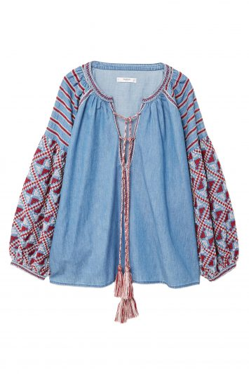 Click to Buy Mango Denim Blouse