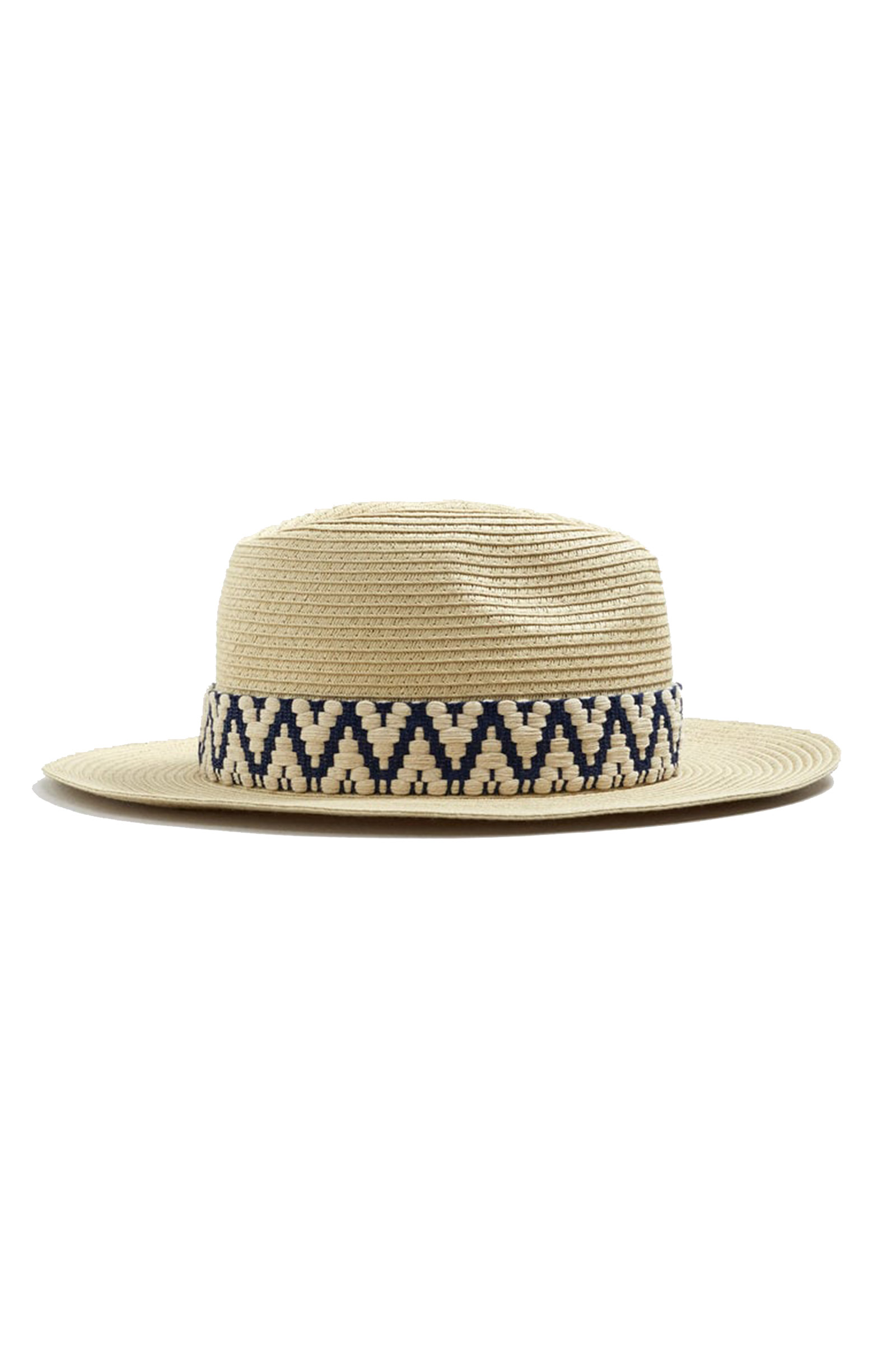 Click to Buy Mango Ribbon Embroidered Detail Straw Hat