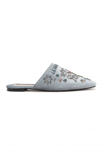 Click to Buy Mango Blue Slip On Shoes