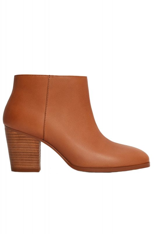 Click to Buy Mango Tan Ankle Boots