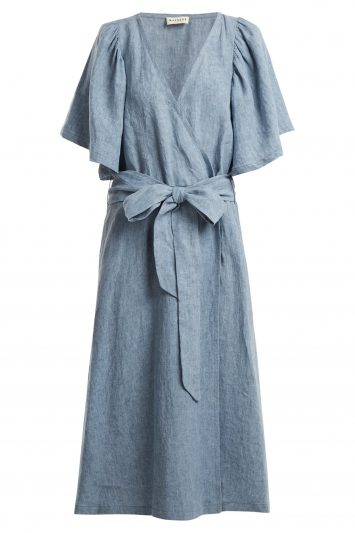 Click to Buy Masscob Light Blue Wrap Dress
