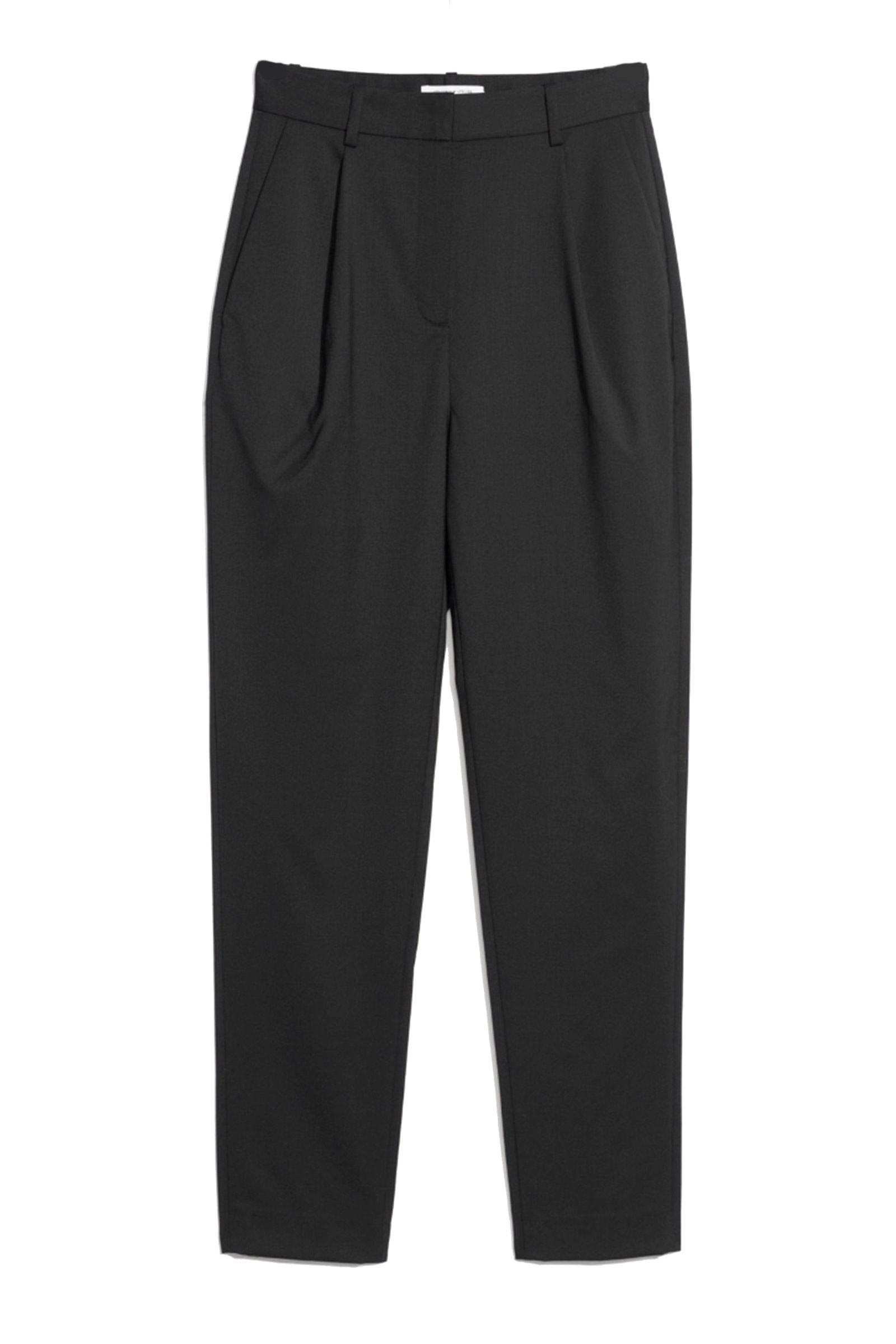 Click to Buy & Other Stories Black High Waisted Tapered Trousers