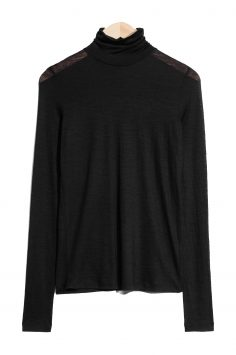 Click to Buy & Other Stories Black Polo Neck Jumper