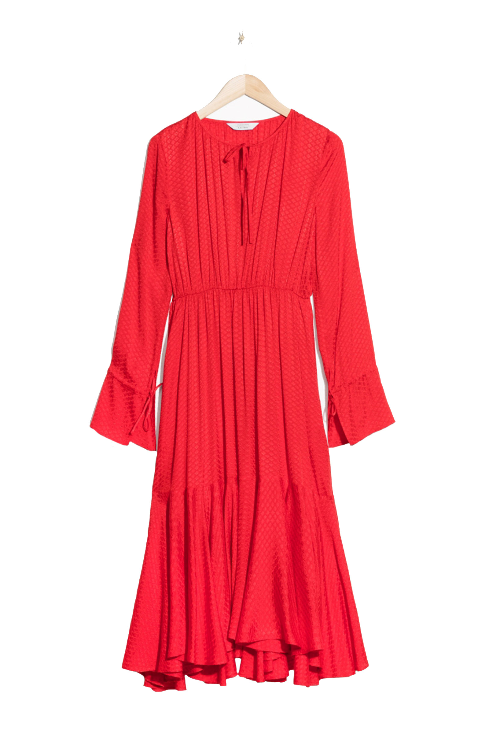 Click to Buy & Other Stories Red Midi Dress
