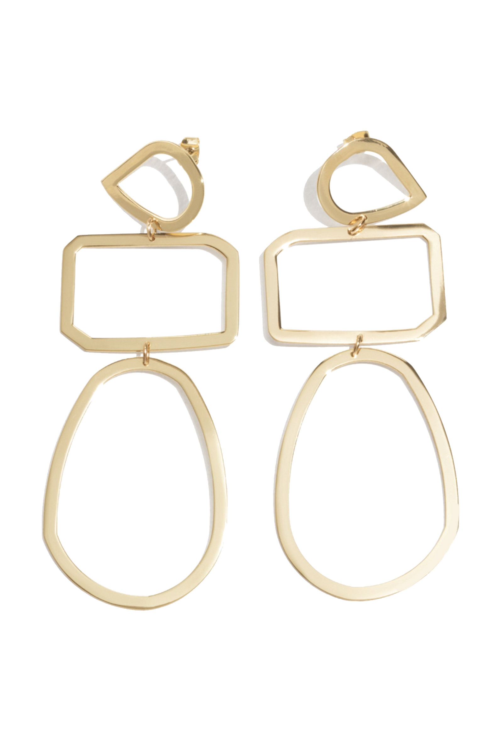Click to Buy & Other Stories Gold Trio Earrings