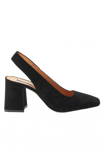 Click to Buy Topshop Black Gainor Slingback Heeled Shoes