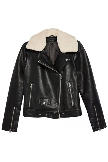 Click to Buy Topshop-Leather-Shearling-Jacket