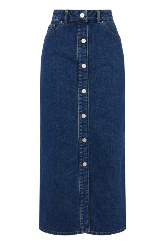 Click to Buy Warehouse Denim Button Through Skirt