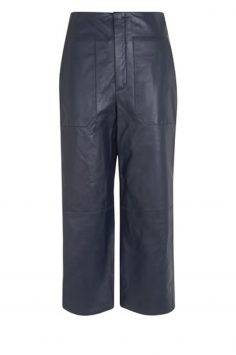 Click to Buy Whistles Cropped Leather Trousers Online
