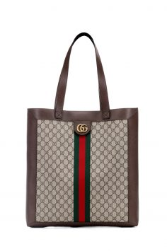 Click to Buy Gucci Ophidia GG Supreme Large Leather Tote Bag