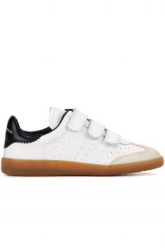 Click to Buy Isabel Marant Etoilé Beth Rubber Leather Trainers