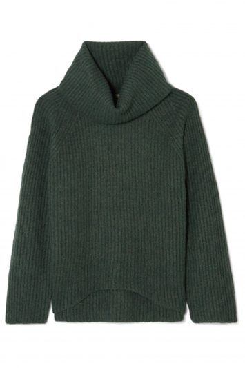 Click to Buy J. Crew Ana Ribbed-knit Turtleneck Sweater