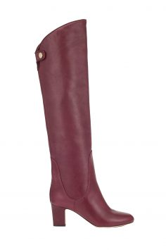 Click to Buy Jimmy Choo Minerva 65 Vino Leather Pull On Boots