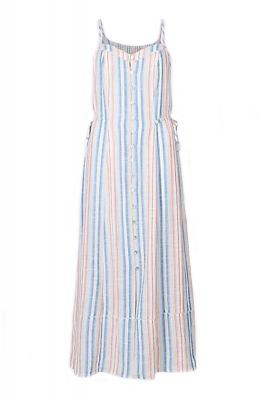 Click to Buy Marks & Spencer Pure Cotton Stripe Maxi Dress