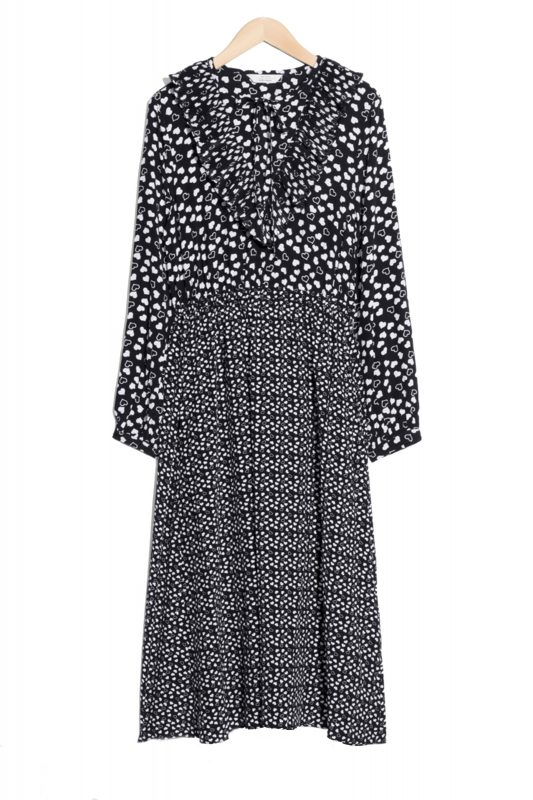 Click to Buy & Other Stories Heart Printed Maxi Dress