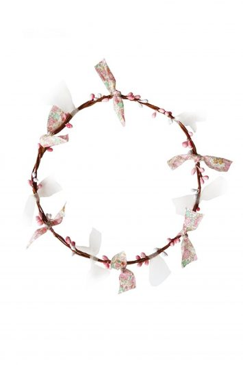 Click to Buy Woodstock Flower Pink Head Garland