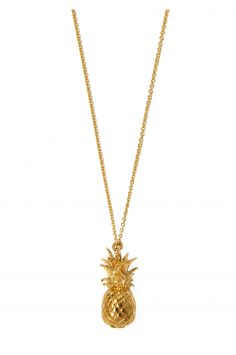 Click to Buy Alex Monroe Gold Plated Pineapple Necklace