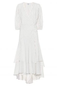 Click to Buy Ganni Wilke Silk and Cotton Midi Dress