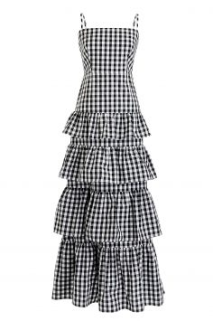 Click to Buy J. Crew Gingham Tiered Sundress Online