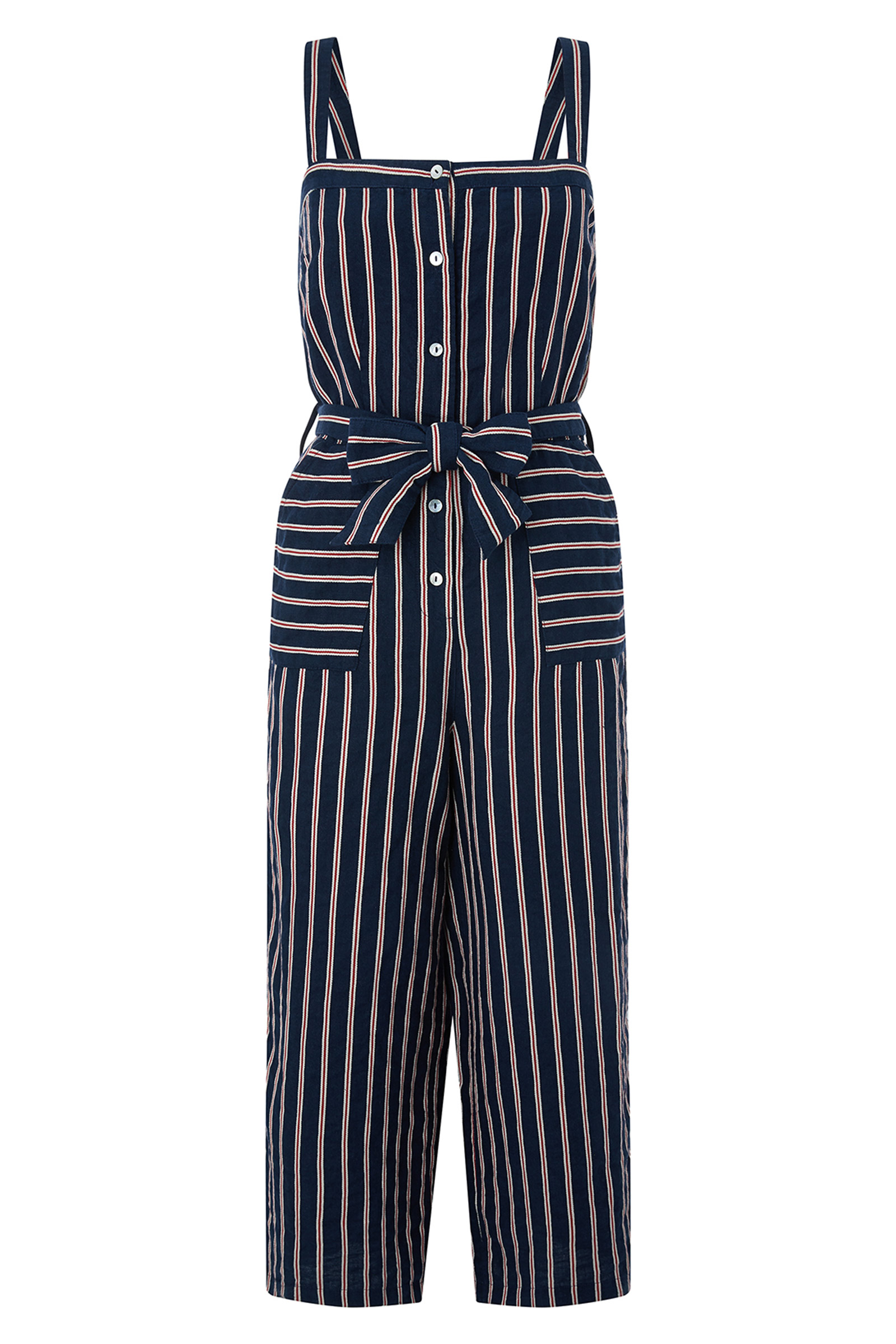 Click to Buy Monsoon Reena Stripe Linen Jumpsuit Online