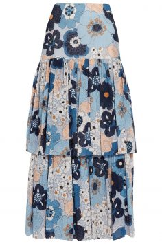 Click to Buy Chloé Floral Print Cotton Skirt