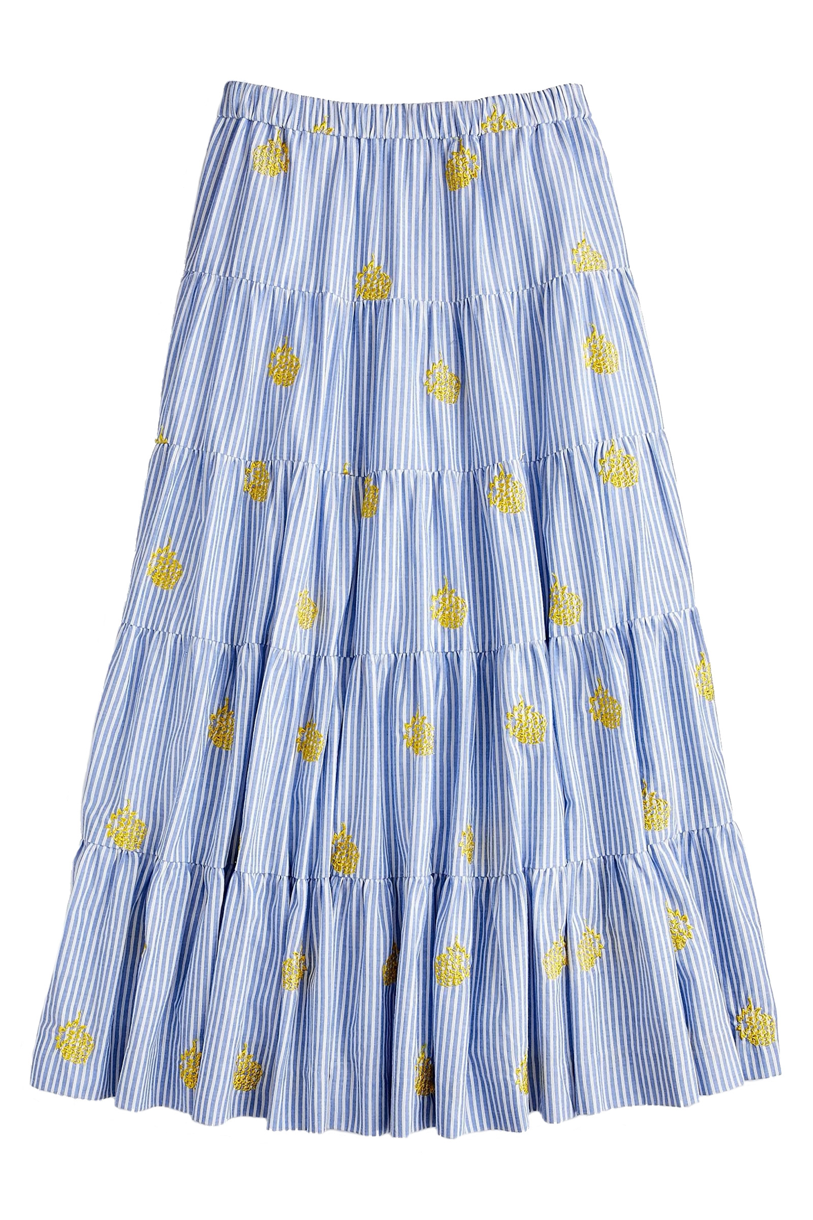 Click to Buy J. Crew Pineapple Embroidered Skirt