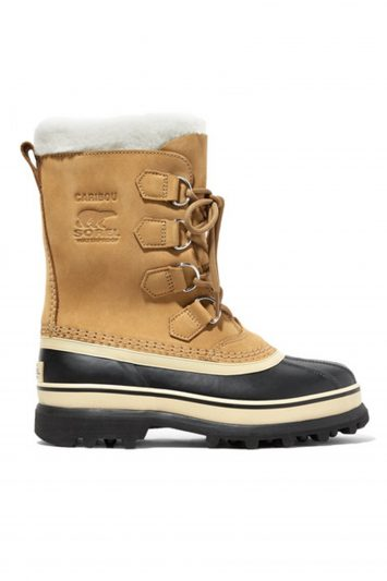 Click to Buy Sorel Caribou fleece-trimmed nubuck and rubber snow boots