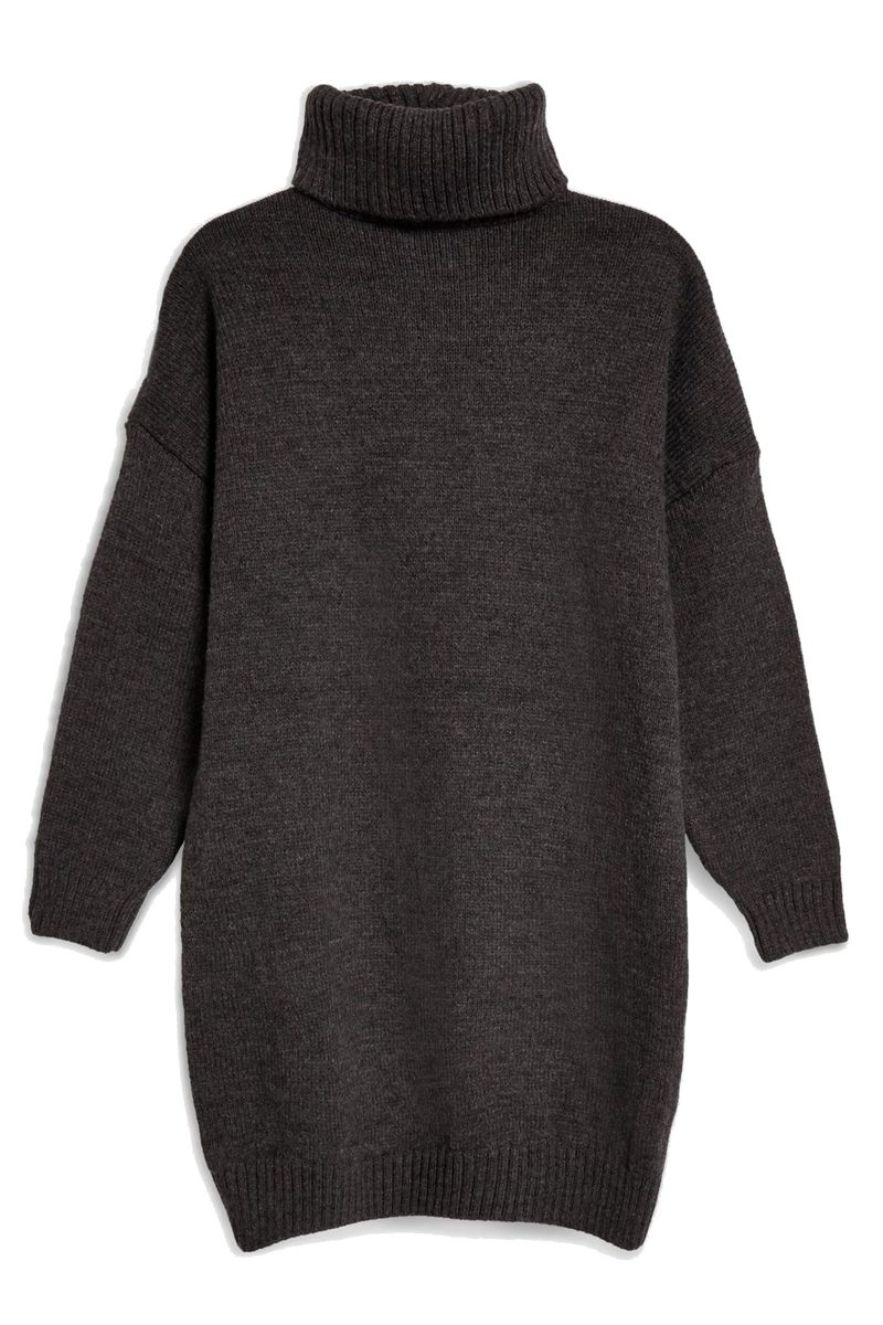 Click to Buy Topshop Ribbed Roll Neck Jumper