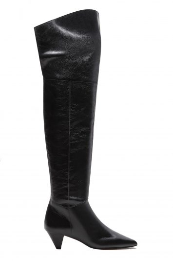 Click to Buy Mango Leather high-leg boots