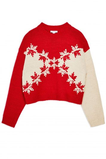 Click to Buy Topshop Christmas Snowflake Chevron Jumper