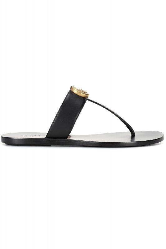 Click to Buy Gucci Double G Leather Sandals