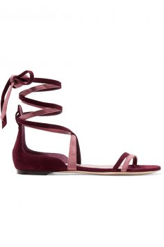 Jimmy Choo Two-tone Suede Sandals