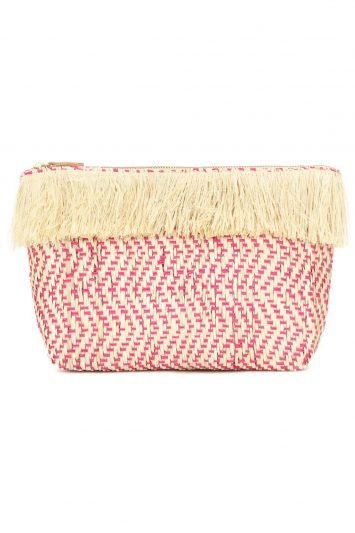 Click to buy Kayu raffia Tia clutch online