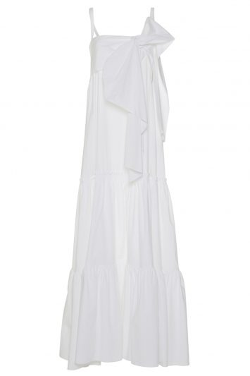 Click to buy Rochas white maxi dress