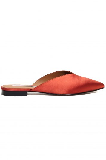 Click to buy Stories Satin Pointy Slippers online