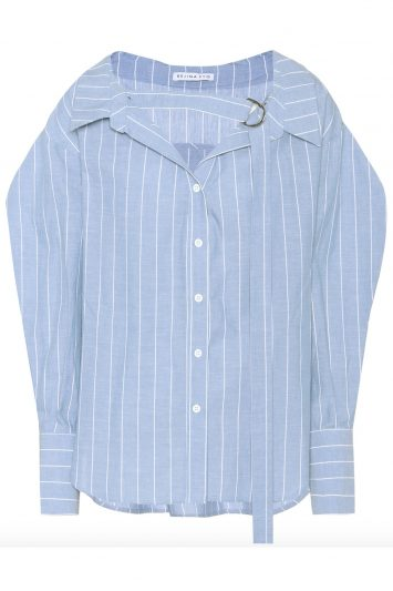 Click to buy Rejina Pyo blue striped cotton shirt
