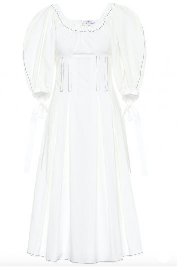 Click to buy Rejina Pyo white cotton dress