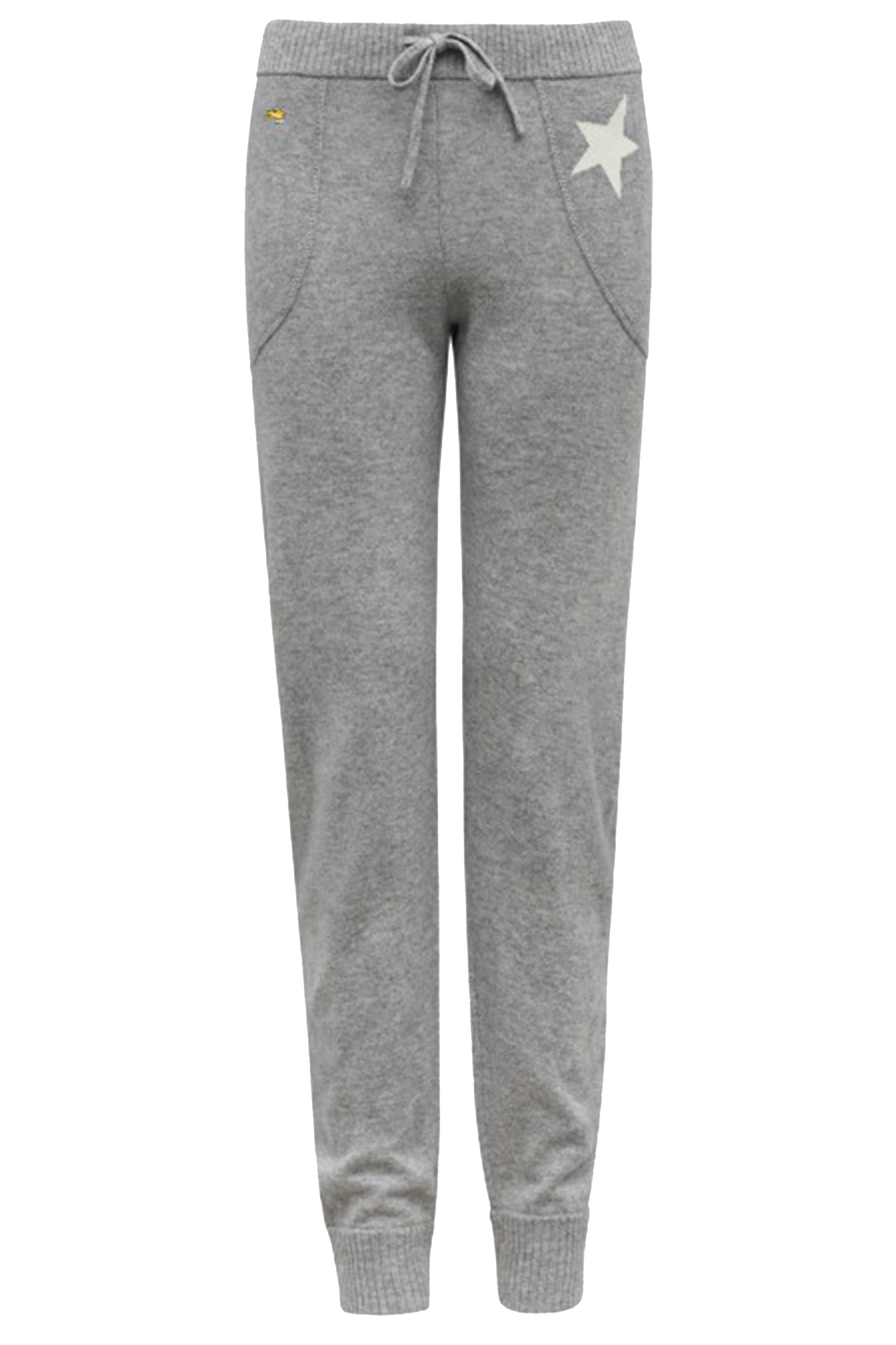 522134b818fa Bella Freud marl grey relaxed cashmere tracksuit bottoms