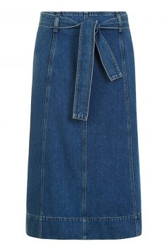 Click to buy Jaeger Belted Denim Skirt online
