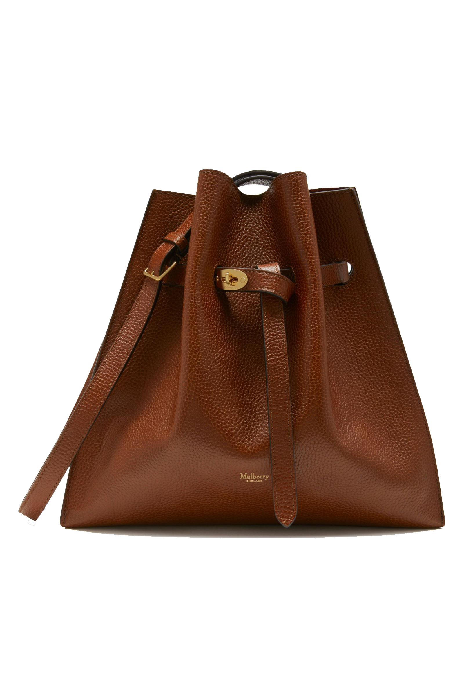50713a0b2a Mulberry oak brown grain leather drawstring bucket bag
