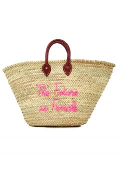 Click to Buy Poolside The Future Is Female Straw Tote Bag