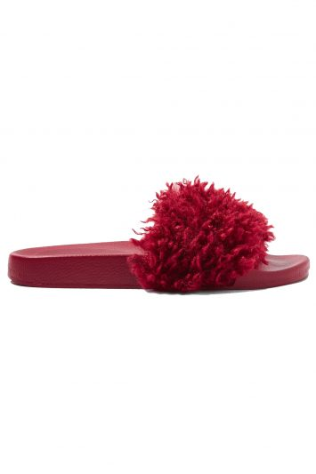 Click to buy Topshop fluffy slides