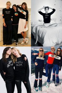 Image of Bella Freud and friends all wearing Bella Freud designs