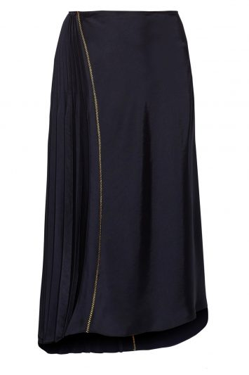 Click to buy DKNY Asymmetric pleated skirt online