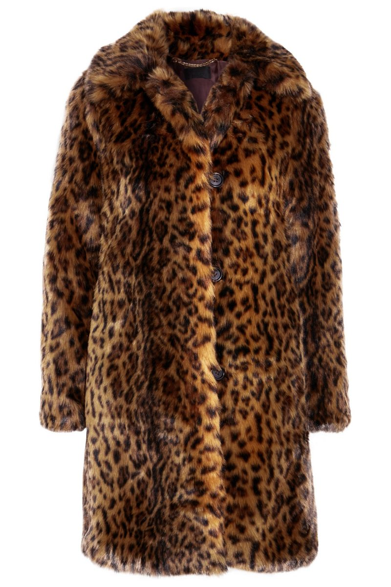Click to Buy J. Crew Leopard Print Faux Fur Coat