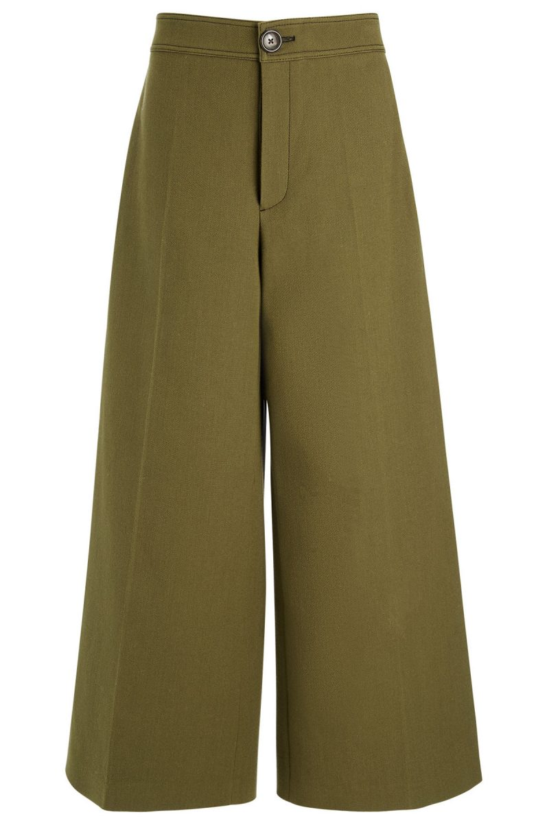 Click to buy Joseph khaki cropped trousers