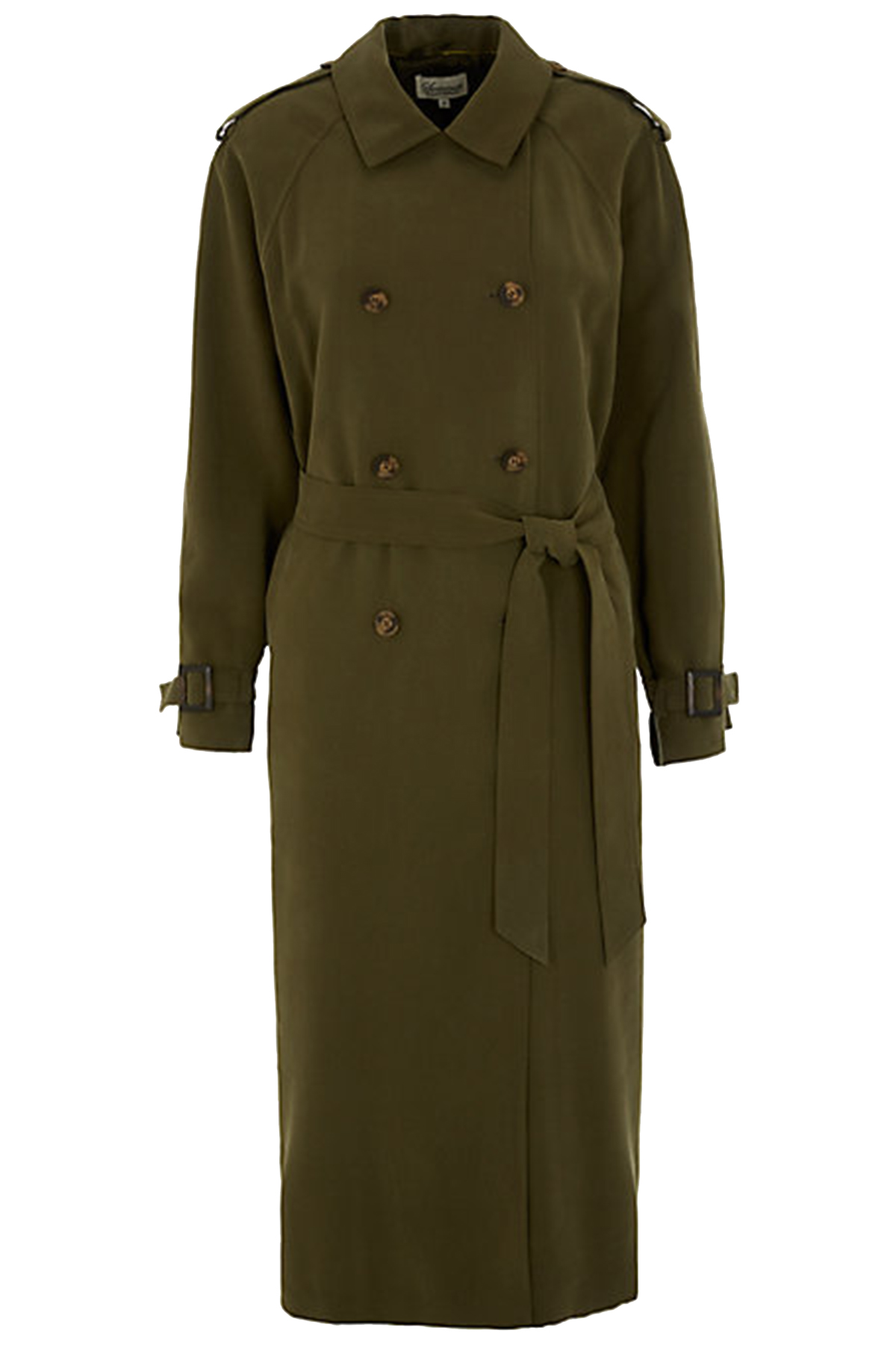 Somerset By Alice Temperley Khaki Cotton Double Breasted