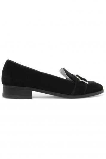 Click to Buy Alexa Chung Velvet Loafers
