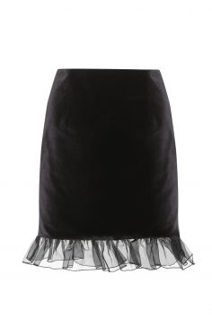 Click to Buy Alexa Chung Velvet Skirt