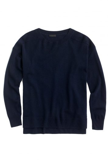 Click to buy J. Crew navy cashmere jumper